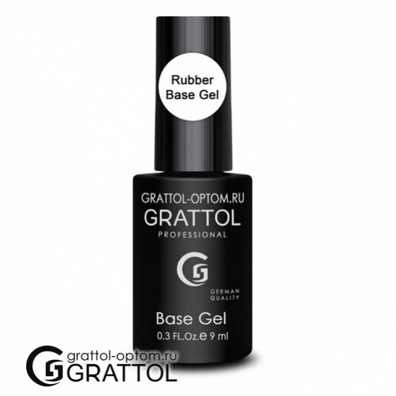 "База для гель-лака ""Grattol"" Gel Royal (каучуковая) 9  мл."